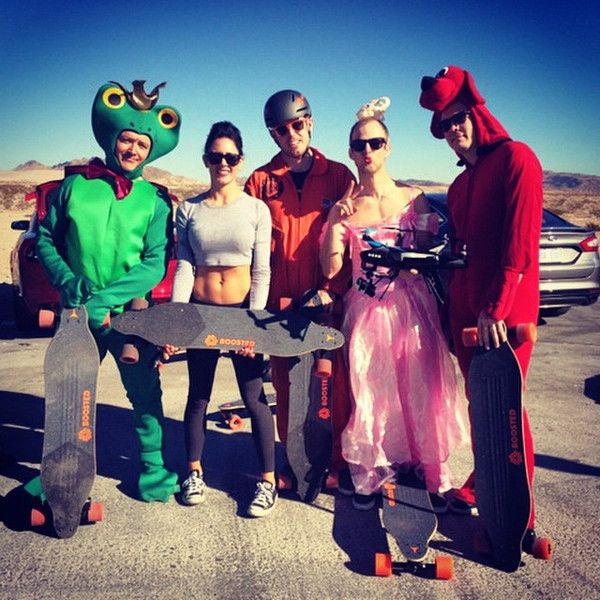 The HEXO+ team (Matthieu as Peach, Xavier as a frog and Sylvain the red dog) with people from boosted board. Such a nice ride !