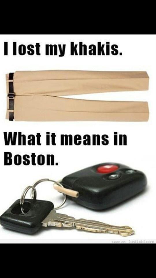 How to speak Boston. ..lol