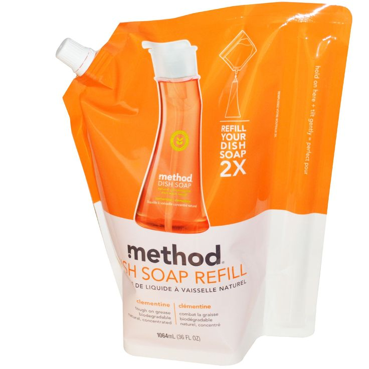 Method, Dish Soap Refill, Clementine, 36 fl oz (1064 ml)