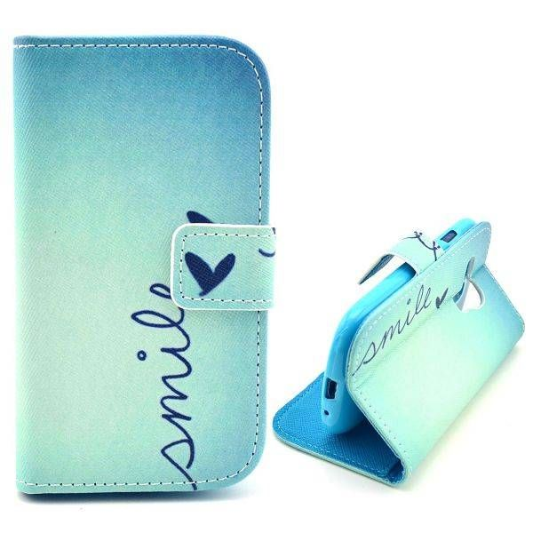 Smile Quote booktype hoes voor Samsung Galaxy S3 mini