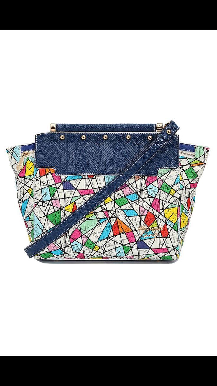 Elizabeth George Multicolor Bag #blue #egbags #elizabethgeorgebags #uniquebags 2016 Spring/Summer Collection