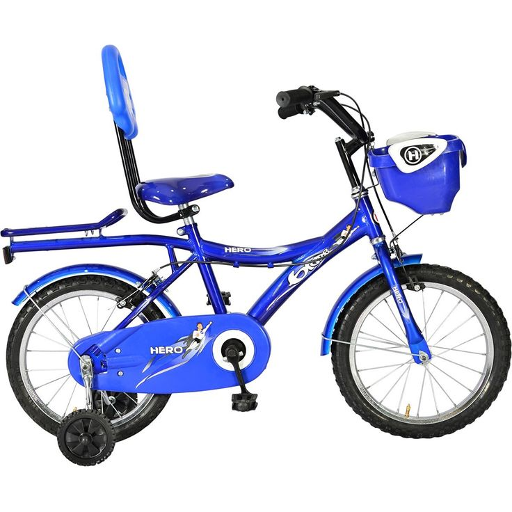 Best Baby Bicycle for 5 year old kids Hero Blaze Hi Riser 16T Junior Cycle (Blue/White)
