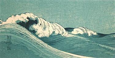 A Japanese Wave Woodblock Print