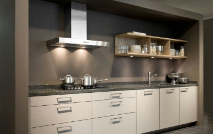 Rechte keuken keuken pinterest - Voorbeeld van open keuken ...