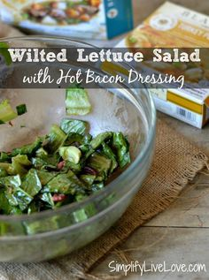 Wilted Lettuce Salad with Hot Bacon Dressing is a classic Arkansas recipe. Handed down to me by my grandmother, this recipe is easy and delish! It pairs great with @BlakesNatural Pot Pies - also a recipe handed down by a grandma. AD