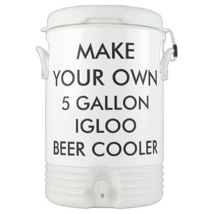 Custom Personalized 5 Gallon Portable Beer Cooler - create your own gifts personalize cyo custom