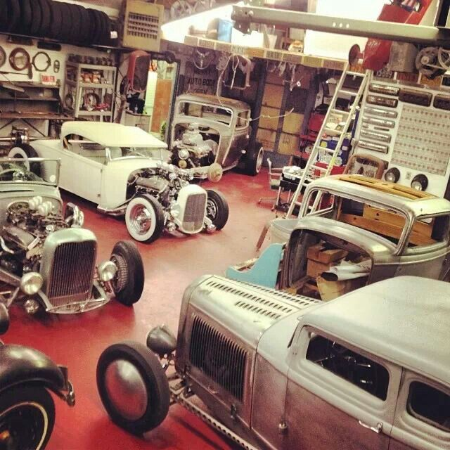 73 best cool garages images on pinterest for Garage auto fab ennery