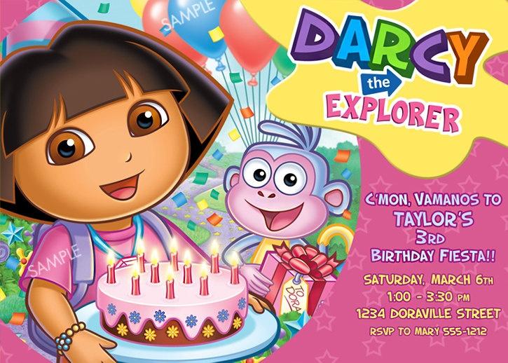 266 best Party IdeasDora the Explorer images – Dora Party Invites