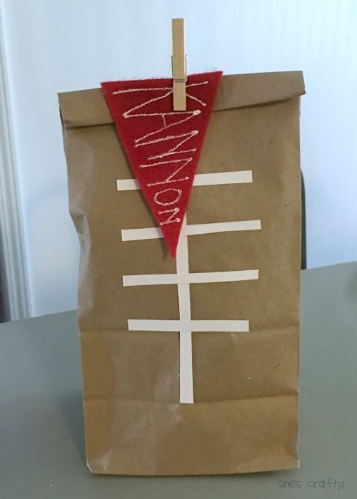 Darling end of season football team gift by She's crafty