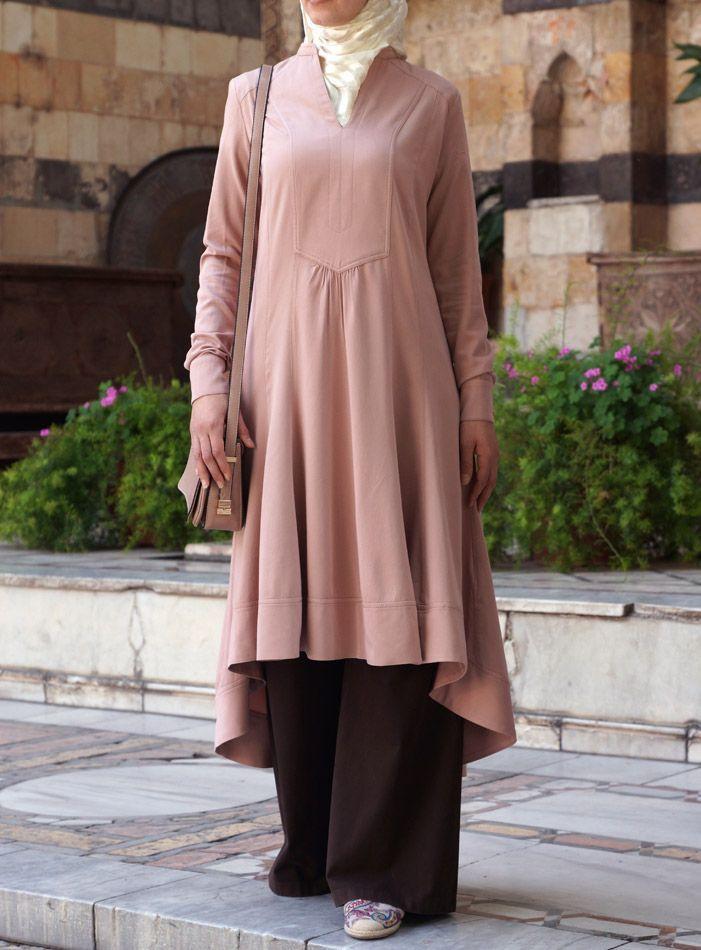 Hijab Fashion 2016/2017: SHUKR USA | Hi-Low Tunic