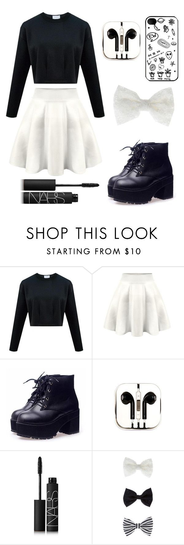 """Black & White Fall/Spring Outfit"" by anaa-xx ❤ liked on Polyvore featuring PhunkeeTree, NARS Cosmetics and Accessorize"