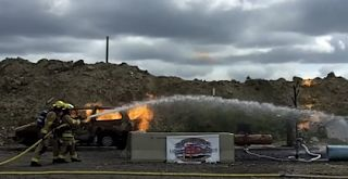 Calgary fire department training reuse stormwater