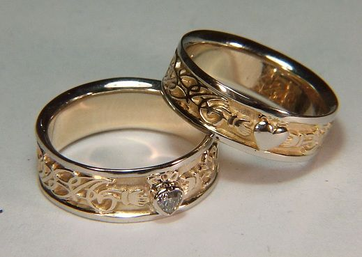 although the claddaugh ring is traditionally from an area of ireland near galway it can - Scottish Wedding Rings