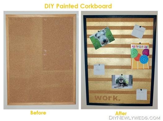 DIY Painted Corkboard