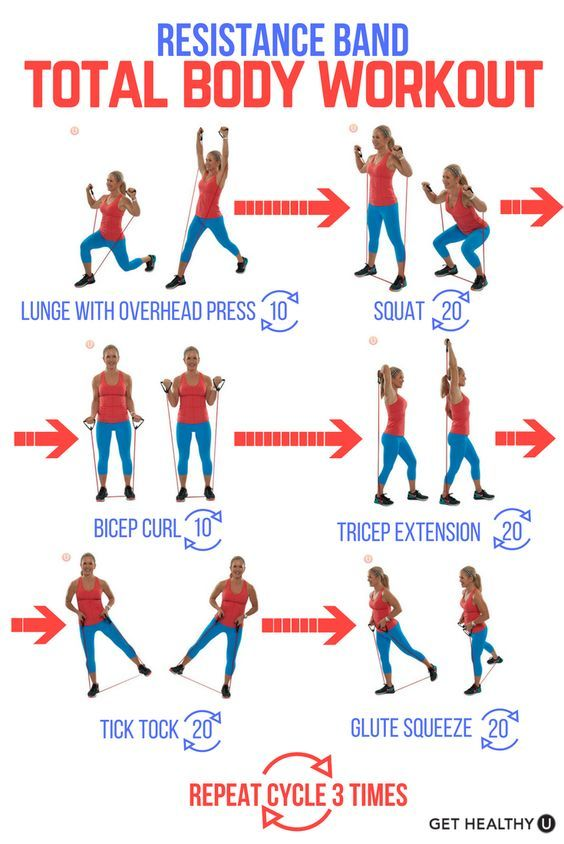 No gym, no excuses! Use a resistance tube and try this total body tone up workout to firm up anywhere and everywhere! Resistance tubes are perfect for the office or travel. Check out our free exercise library for tons of more free workout ideas!