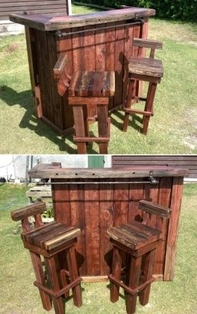 Pallet Bar & Chairs – from Uruguay
