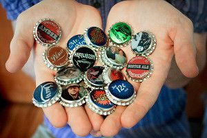 """Just recieved my custom beer bottle caps from """"www.bottlemark.com""""! They look great! I got Cleveland Indians and Cleveland Browns caps to add to a custom coffee table I am working on. Will post pics of them soon!"""