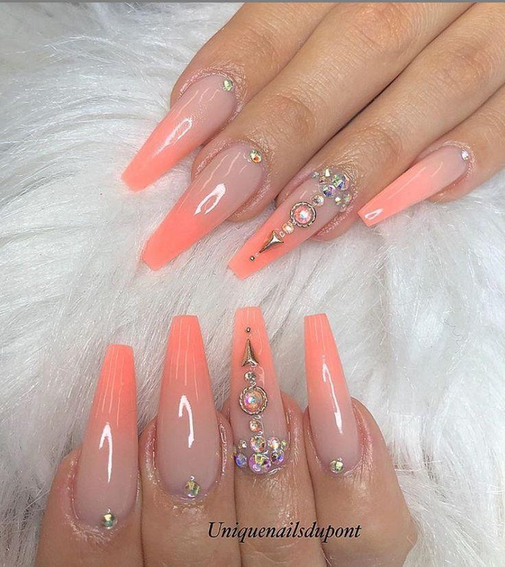 78 Cercueil Acrylique Chic Le Plus Chaud Ongles Longs Dessins Pour La Couleur Des Ongles D 3 Coffin Nails Long Summer Nails Colors Gorgeous Nails