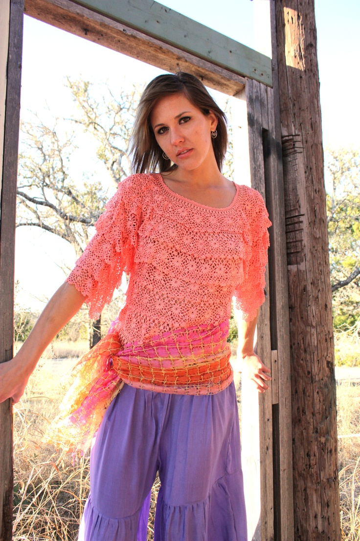 Crochet Ruffle top is TOPS!