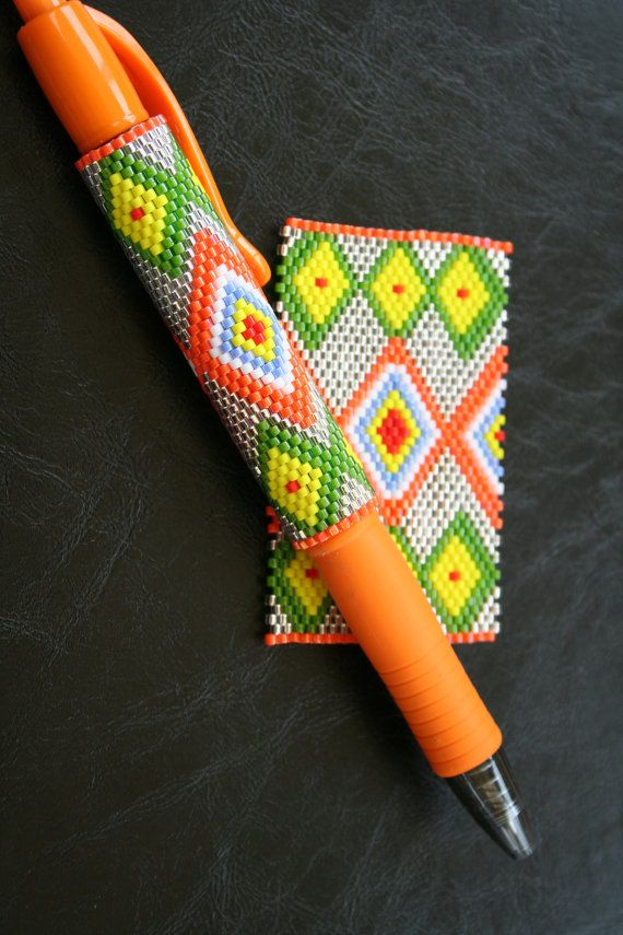Hey, I found this really awesome Etsy listing at https://www.etsy.com/uk/listing/269541861/diamonds-even-count-peyote-pen-cover