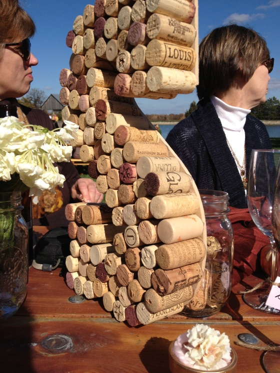 Love all the little touches! And it's DIY so we could save some money on some of it. Between all of us, we could probably save up a lot of corks by August :) Wine cork monogrammed letter using corks from the Bachelorette Party Fun way to incorporate the winery theme in the decor. www.casalarga.com/weddings