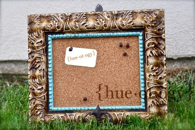 Do you have an old icky frame that could use a bit of Hueology whimsy? It doesn't have to be a hideous gold one either. Yep, it can be done in a matter of minutes and treasured for years...ENJOY!!!