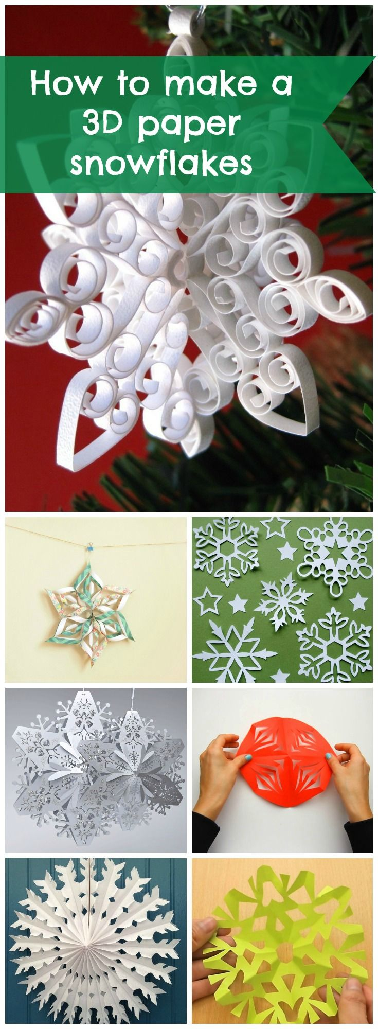How To Make a 3D Paper Snowflake | QSession.com