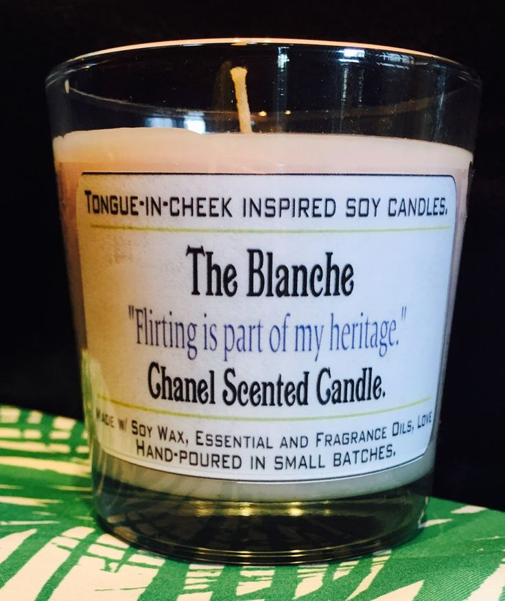 Golden Girls Candles- The Blanche Devereaux-  Chanel Scented Soy Candle- Golden Girls Gift- Mother's Day Gift- BFF GIFT by PickMeCups on Etsy