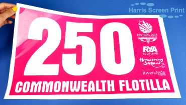 Large Waterproof marine grade stickers printed for this year's Commonwealth Flotilla