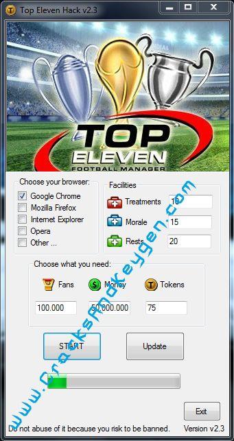 Top Eleven Hack Free Download