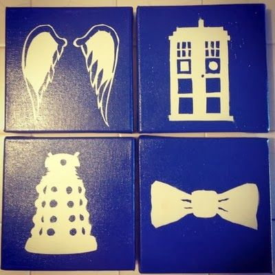 making doctor who minimalist shadow art - Dr Who Bedroom Ideas