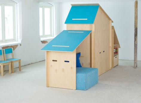 birch plywood kid playhouse, made in norway. Kink Liane »Kinkeli-hut