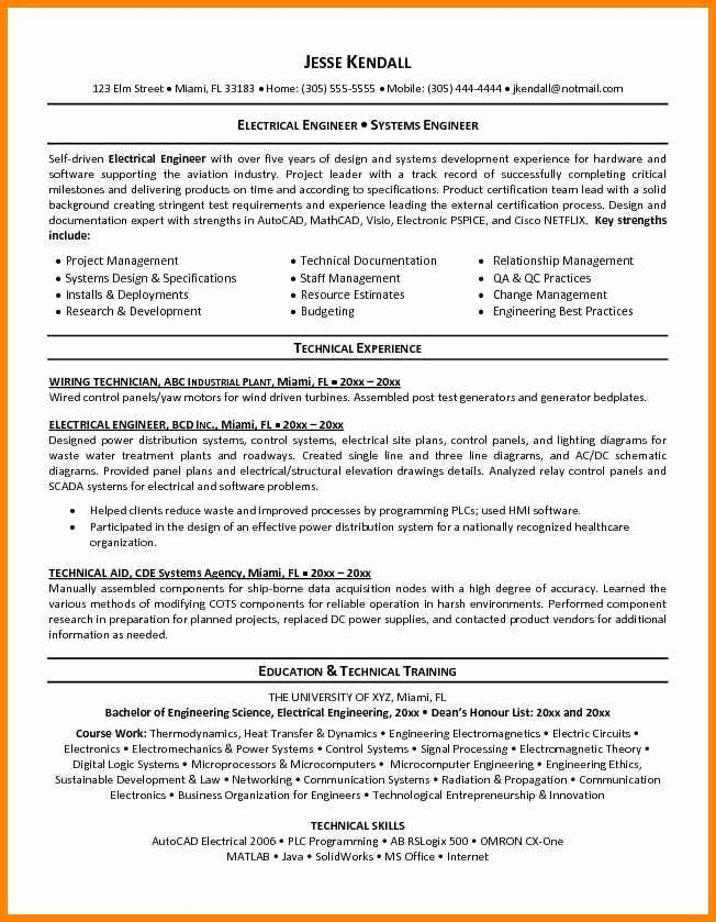 Electrical Engineer Resume Sample Lovely 8 Electrical Site Engineer Resume In 2020 Engineering Resume Templates Resume Objective Sample Sample Resume Templates