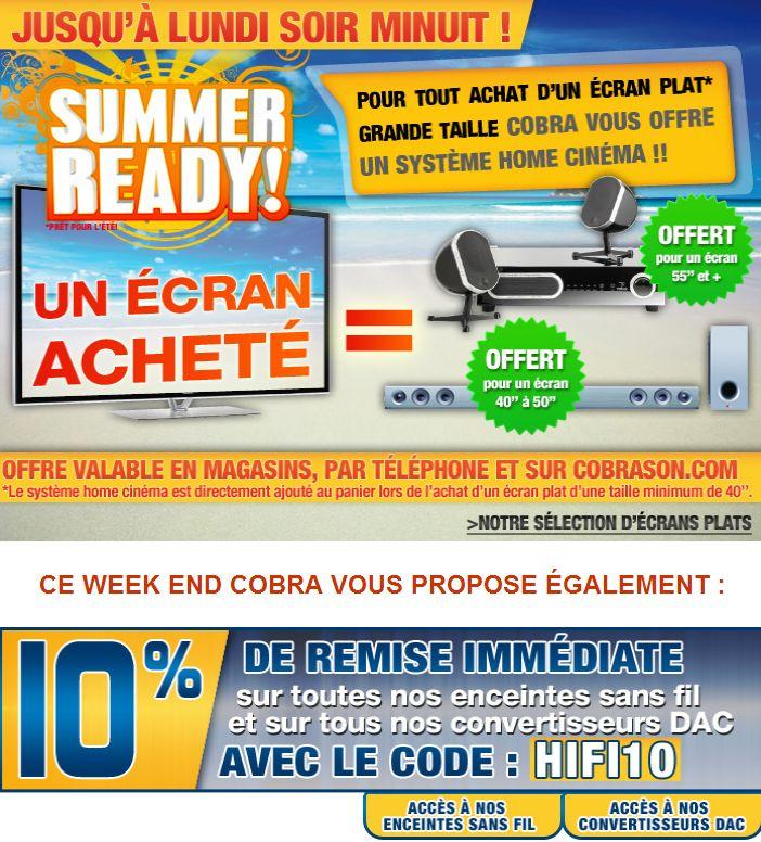 1 TV acheté = 1 système Home-Cinéma offert !! Et/ou -10% sur tous nos DACs et Enceintes sans-fil !! |  #Homecinéma #tv #bonplan #promo #hightech