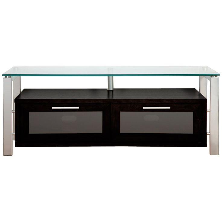 Plateau Decor 50 Inch TV Stand in Black and Silver - DECOR 50 (B)-S