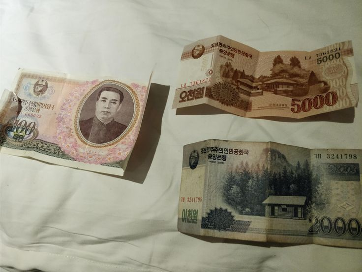 North Korean won. Left one is W100 from 1978 during Kim Il Sung's reign bottom one is W2000 from 2008 during Kim Jong Il's reign just before the 2009 revaluation of the currency and the top one is W5000 from 2013 during Kim Jong Un's reign (I hope This is Interesting to some of you) http://ift.tt/2A8CCb5