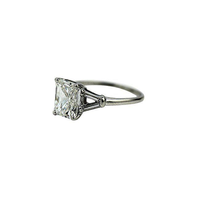 Art Deco Diamonds 2.6-carat diamond ring, $18,500 etsy.com (=)