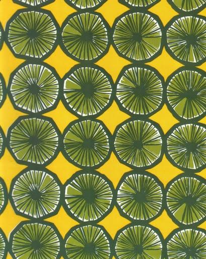 Marimekko fabric Appelsiini by Maija Isola.