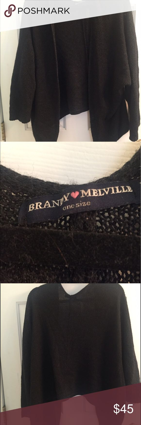Brandy Melville Cardigan Great condition Brandy black cardigan. One size fits all! A wardrobe must have! Brandy Melville Sweaters Cardigans