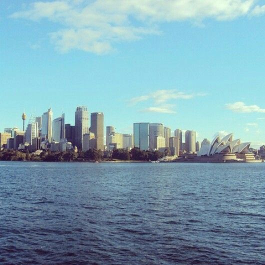 Scenery of Sydney bay. Taken from above Manly fast ferry trip.