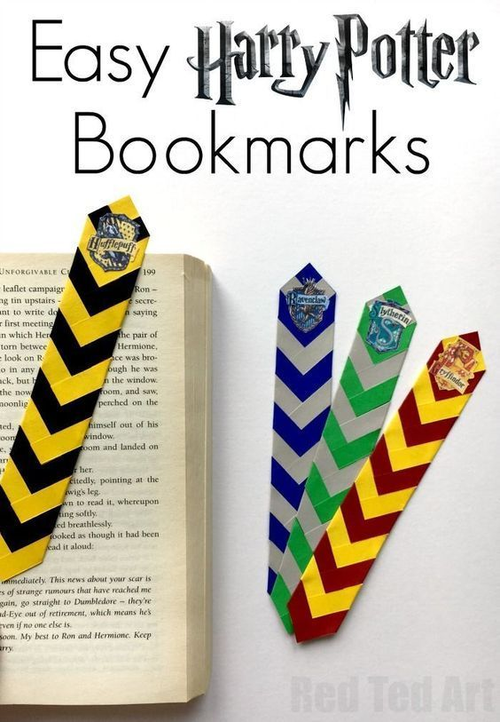 Easy Harry Potter Bookmarks – Red Ted Art