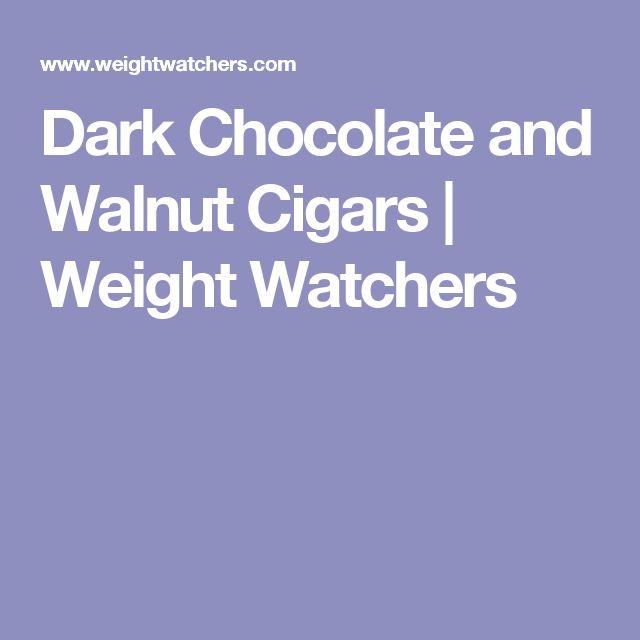 Dark Chocolate and Walnut Cigars | Weight Watchers