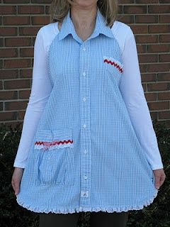 Sewing Apron From Mans Shirt | apron made out of man s shirt repinned from aprons by lisa harris