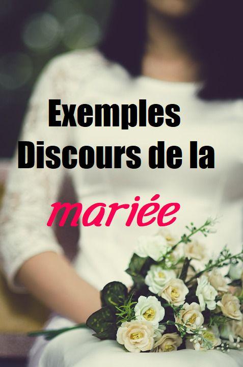 Exemples parole mariée à marié – Mariage