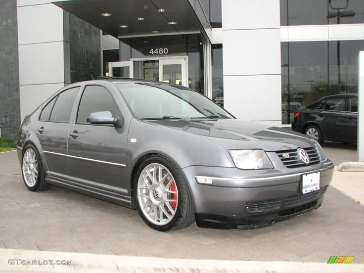 2004 Volkswagen Jetta GLS 1.8T Sedan - Platinum Grey Metallic Color silver wheels