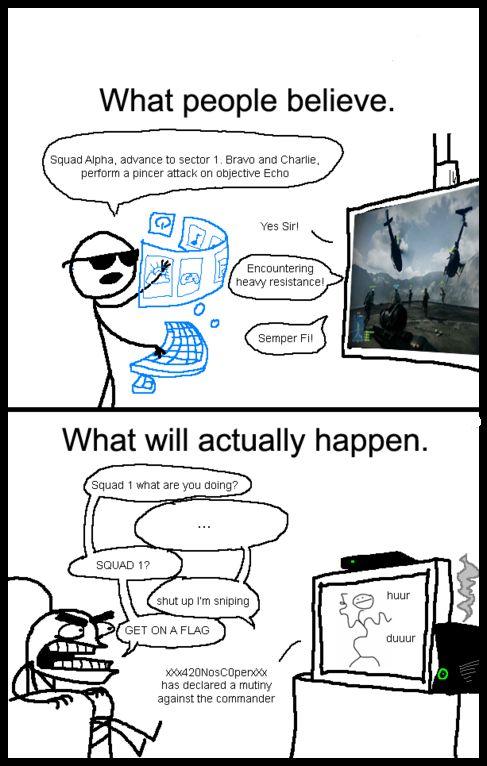 Commanding in Battlefield 4.