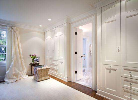 built-in closets in bedroom