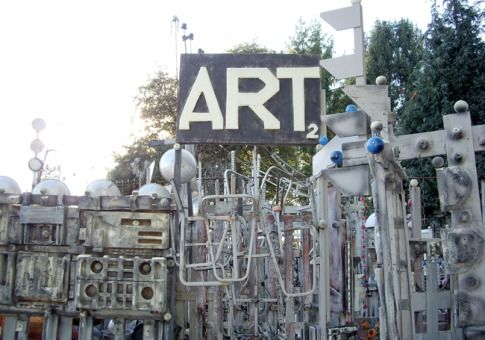 RichArt's Art Yard   Centralia, Wash.  Artist Richard Tracy will welcome you into his home and backyard, both packed with the Styrofoam and metal sculptures he has worked on since 1981, and give you an hour-long tour--the first five minutes of which are free