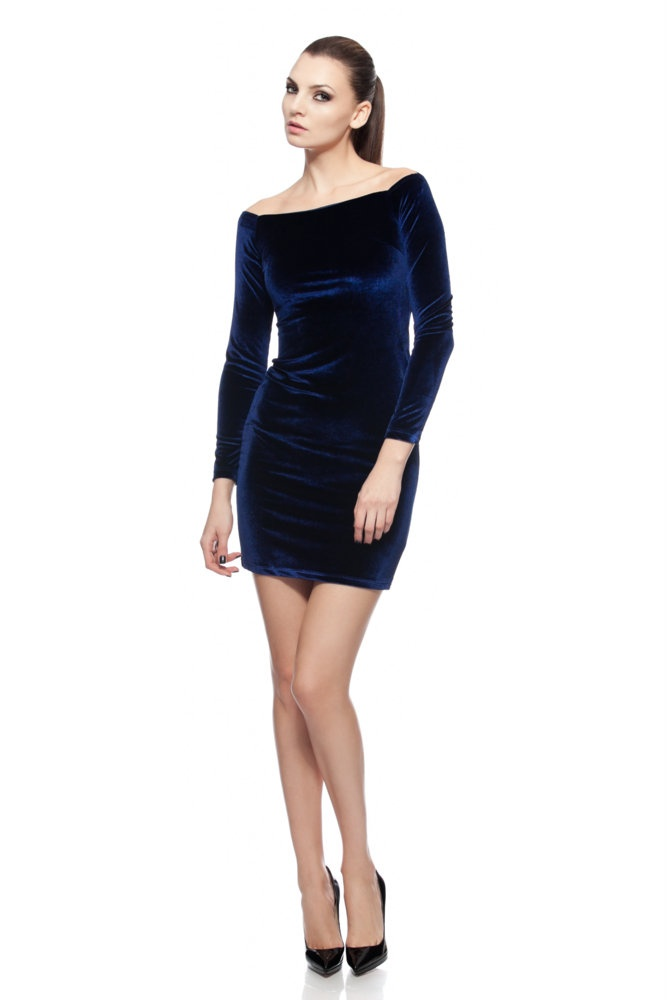 Velvet blue dress available on www.effingo.ro | Style: Clothes ...