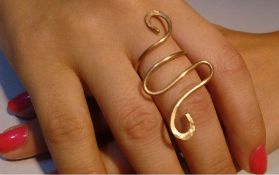 Hey, I found this really awesome Etsy listing at https://www.etsy.com/listing/245060175/gold-ring-brass-wrap-around-ring-forged
